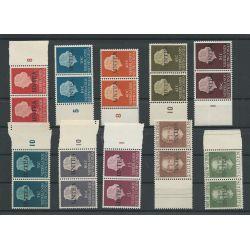 West Nieuw GUINEA 1-19 paarjes UNTEA opdruk MNH/postfris CV 130 €