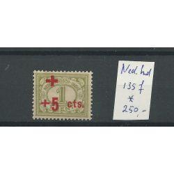 Ned. Indië 135f OPDRUK-afwijking MH/ongebr CV 250 €