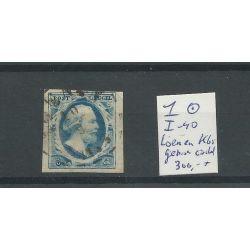 """Nederland 1 plt I-40 """"LOENEN 1853"""" Gebroken cirkel VFU/gebr CV 300 €"""
