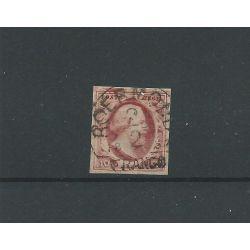 """Nederland 2 met """"ROERMOND-C 2/2/1857"""" VFU/gebr CV 85 €"""