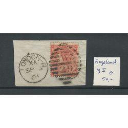 Engeland nr 19 II Queen Victoria 1862 VFU/gebr CV 50 €