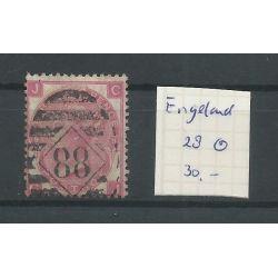 Engeland nr 28 Queen Victoria 1867 VFU/gebr CV 30 €