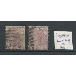 Engeland nr 40x en 40y Queen Victoria 1875 VFU/gebr CV 140 €