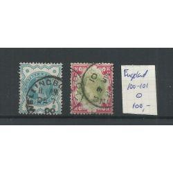 Engeland nr 100-101 Queen Victoria 1900 VFU/gebr CV 100 €