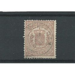 """Nederland 13 """"Schiedam 1876"""" franco-takje VFU/gebr CV 18 €"""