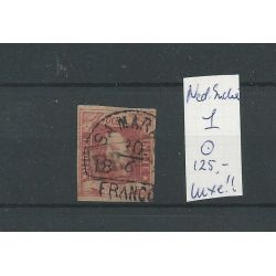 Ned. Indie 1 met SAMARANG de LUXE VFU/gebr CV 125 €