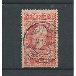 """Nederland 91 met """"Schiedam 1914"""" langebalk VFU/gebr CV 5+ €"""