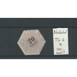 Nederland TG6 Telegram 20ct LUXE MH/ongebr CV 400 €