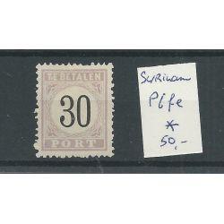 "Suriname P6fe ""TiE"" Port 1886 MH/ongebr CV 50€"
