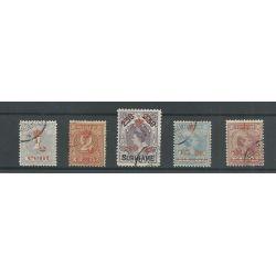 Suriname 60-64 Kroontjes-opdruk VFU/gebr CV 250 €