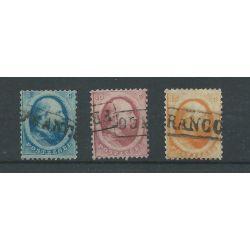 Nederland 4-6 Willem III 1864-set VFU/gebr CV 150 €