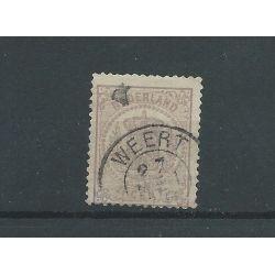 """Nederland 18 """"WEERT"""" franco takje VFU/gebr CV 100++ €"""