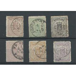 Nederland 13-18 Wapens 1869 VFU/gebr CV 317 €