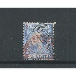 "Nederland 7 met ""ROTTERDAM 1868"" in rood VFU/gebr CV 50+ €"