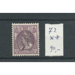 Nederland 72 Wilhelmina 30ct MNH/postfris CV 9 €
