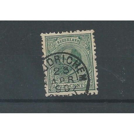 """Nederland 25H """"WOUDRICHEM 1890"""" kleinrond VFU/gebr CV 70 €"""