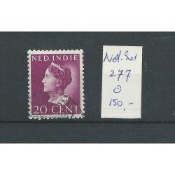 Ned. INDIE 277 KONIJNENBURG 20ct VFUgebr CV 150 €