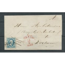 Nederland 1 plt IV-85 briefomslag DOKKUM VFU/gebr CV 100+ €