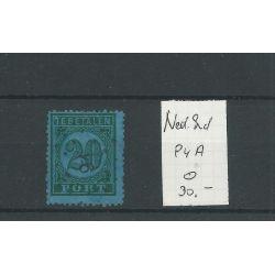 Ned. INDIE P84A met puntstempel 91 VFU/gebr CV 40+ €
