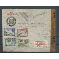 Curacao LP41-44 op Censuurbrief naar New York CV 40++ €