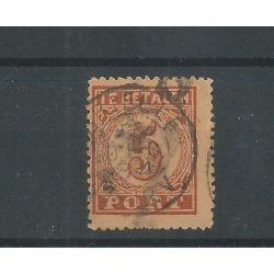 """Nederland P1 met """"BRIELLE 1884"""" kleinrond VFU/gebr CV 20+ €"""