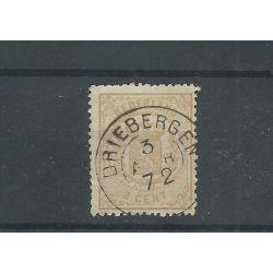"Nederland 17B met ""DRIEBERGEN 1872"" franco-taokje VFU/gebr CV 120+ €"