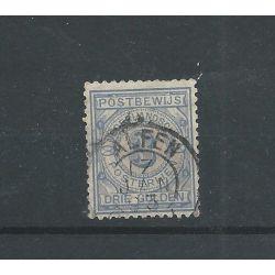 """Nederland PW4 met """"ALPHEN 1893"""" VFU/gebr CV 110 € PRACHT!!!"""