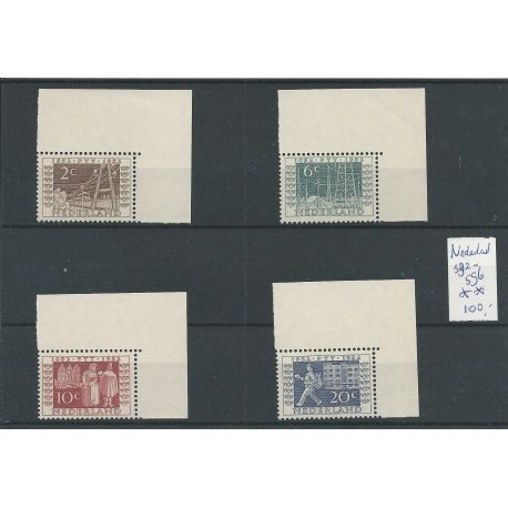 Nederland 592-595 ITEP HOEKZEGEL MNH/postfris CV 100 €
