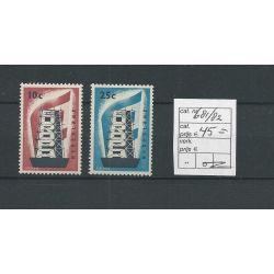 Nederland 681-682 EUROPA 1956 MNH/postfris CV 45 €