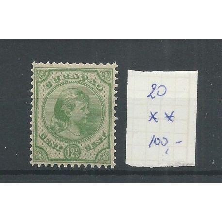 Curacao 20 Wilhelmina 12,5ct MNH/postfris CV 100 €