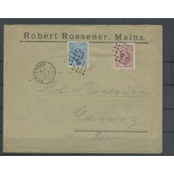 Nederland 35 en 36 op mengfrankering 1892 naar Duitsland CV 68 €
