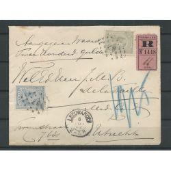 Nederland 33 en 39 op R-brief 1892 Leeuwarden-Utrecht CV 80++ €