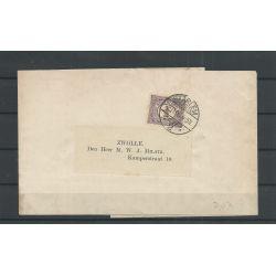 Nederland 50 op Krantenbandje met 2 Martin stempels 1906 CV 50+ €
