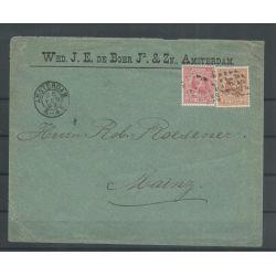 Nederland 37 en 39 mengfrankering naar Mainz 1892 CV 225 €