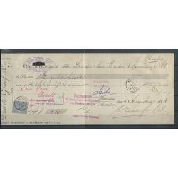 Nederland 35 op kwitantie met Heerle 1894 CV 10+ €