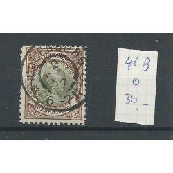 """Nederland 46B """"CULENBORG 1897"""" grootrond VFU/gebr CV 30+ €"""