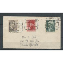 Nederland 274-276 op Trein-brief naar USA !! CV ??? €