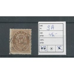 IJsland 9A Cijfer met Kroon 16 Aur VFU/gebr CV 45 €