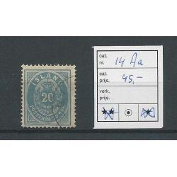 IJsland 14Aa Cijfer met Kroon 20 Aur VFU/gebr CV 45 €