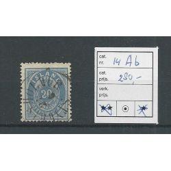 IJsland 14Ab Cijfer met Kroon 20 Aur VFU/gebr CV 280 €