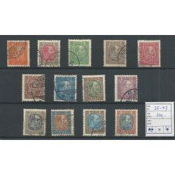 IJsland 35-47 Koning Christian IX VFU/gebr CV 340 €
