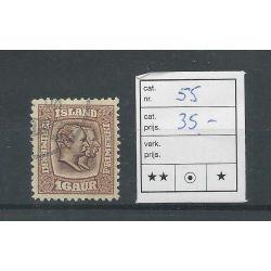 IJsland 55 Koning Christian & Frederik VFU/gebr CV 35 €