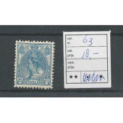 Nederland 63 Bontkraag 12,5ct MNH/postfris CV 18 €
