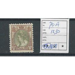 Nederland 70A Wilhelmina MH/ongebr CV 12,50 €