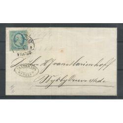 """Nederland 1 plt III-11 op Brief Utrecht -Wijk by Duurstede"""" 1860 CV 150 €"""