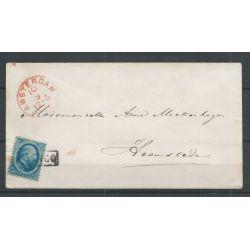 Nederland 4 op brief Amsterdam-Heemstede 1865 VFU/gebr CV 50+ €