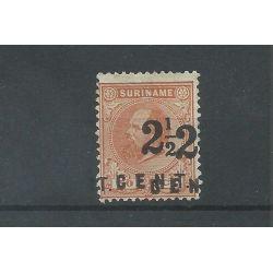 Suriname 21Cf Hulpuitgite DUBBELE OPDRUK MH/ongebr CV 500 € PRACHT !!