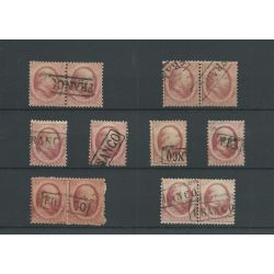 Nederland  5 PAARTJES (4x) en 4 zegels   VFU/gebr  CV 160 €