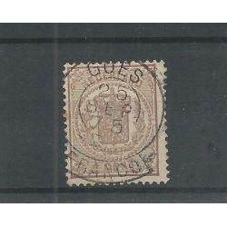 """Nederland 15 met """"BOMMEL 1870"""" franco-takje VFU/gebr CV 60+ €"""