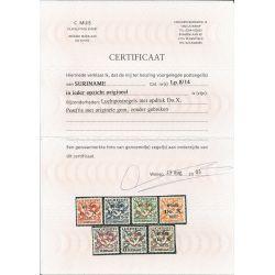 Suriname LP8--14 DO-X serie MNH/postfris CV 1000 € Certificaat !!